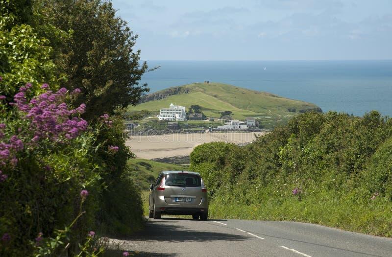 Ilha na maré baixa Devon England sul Reino Unido do Burgh foto de stock