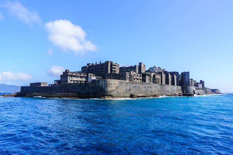 Ilha Nagasaki de Ghost fotografia de stock