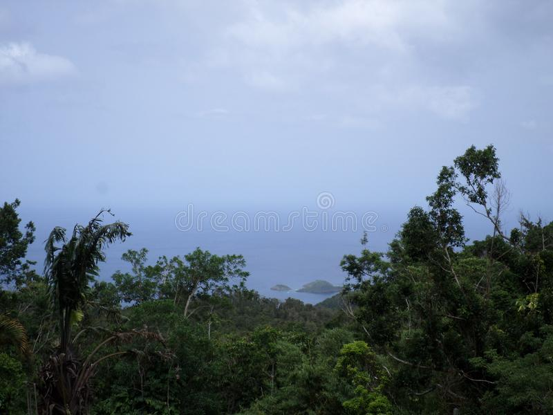 Ilha natural de Guadaloupe das belezas imagens de stock royalty free