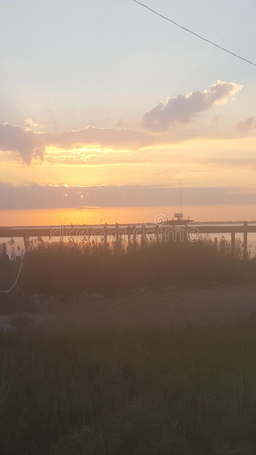 Ilha NJ de Long Beach do nascer do sol imagens de stock royalty free