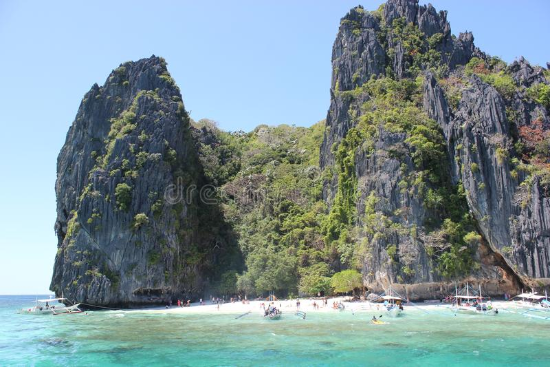 Ilha no EL Nido Palawan fotografia de stock royalty free
