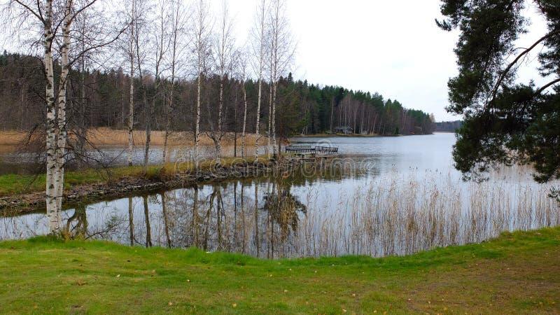 Ilha no lago imagem de stock