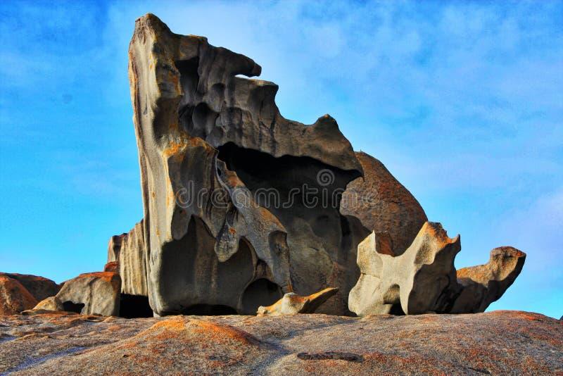Ilha notável Austrália do canguru de rochas foto de stock royalty free