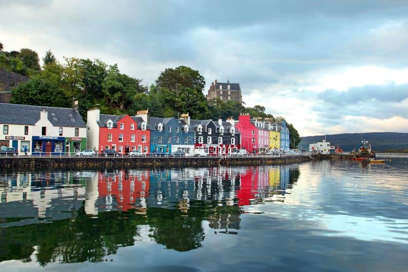 Ilha ocidental de Escócia da cidade colorida Mull de Tobermory - Ca imagem de stock royalty free