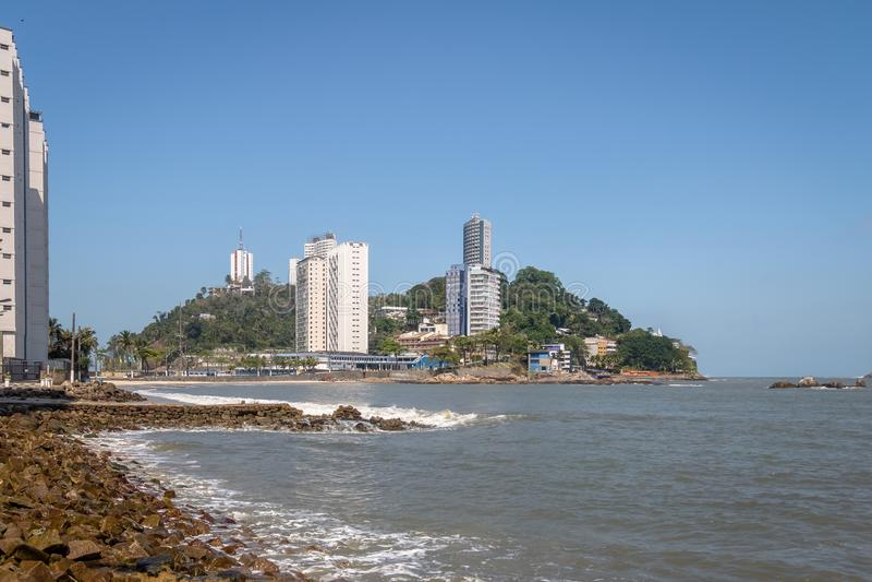 Ilha Ilha Porchat de Porchat - Sao Vicente, Sao Paulo, Brasil foto de stock