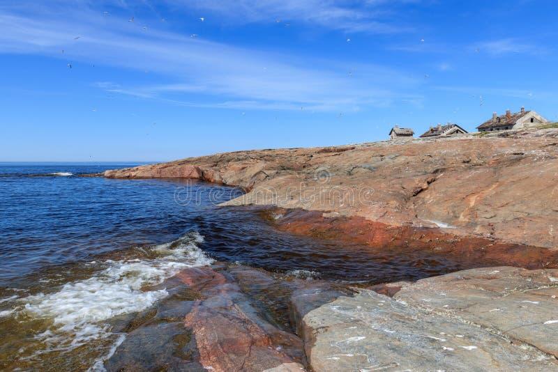 Ilha rochoso do norte imagens de stock