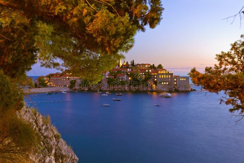 Ilha Sveti Stefan - Montenegro fotografia de stock