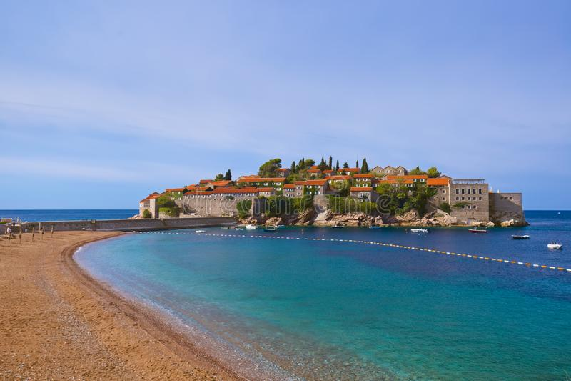 Ilha Sveti Stefan - Montenegro fotografia de stock royalty free