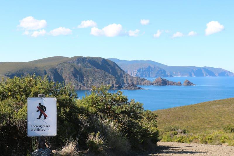 Ilha Tasmânia de Bruny da baía do farol fotos de stock royalty free