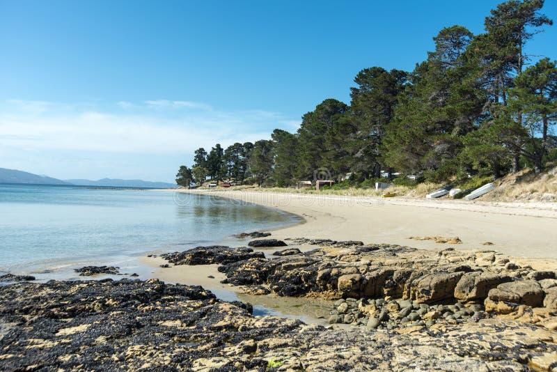 Ilha Tasmânia de Bruny do ponto de Dennes foto de stock