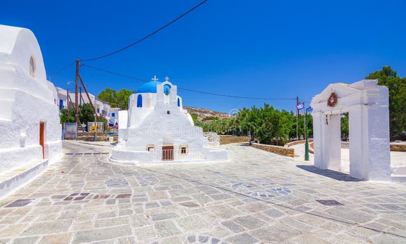 Ilha tradicional icónica do Ios, Cyclades, Grécia imagem de stock