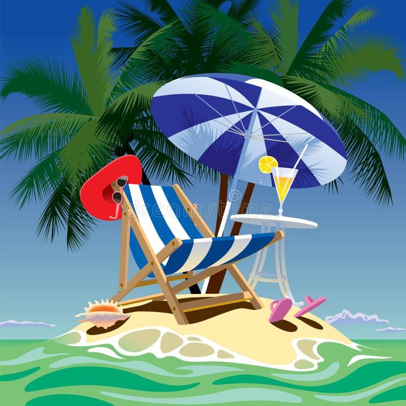 Ilha tropical ilustração stock