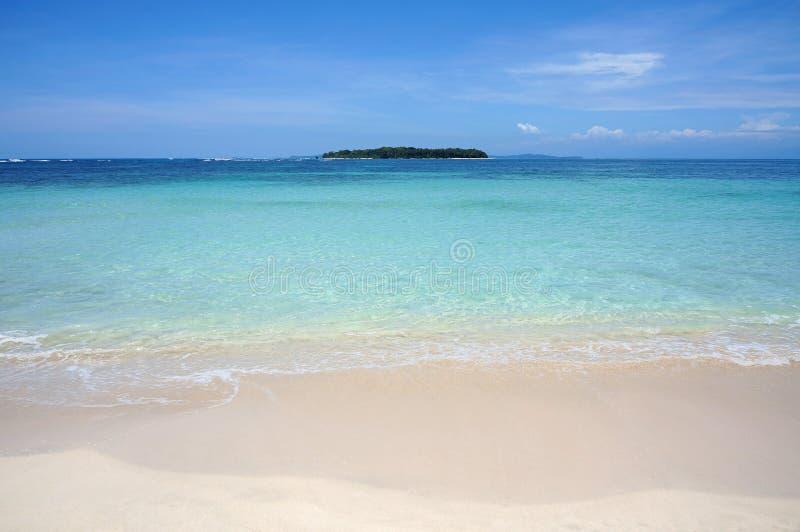 Ilha tropical da praia foto de stock