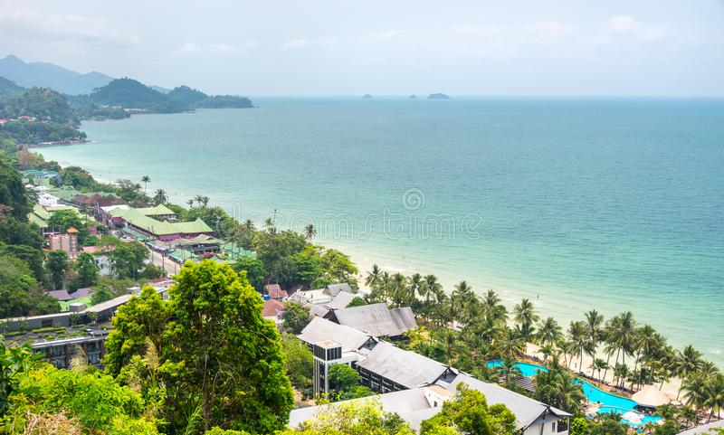 Ilha tropical de Tailândia de Koh Chang viewpoint imagem de stock royalty free