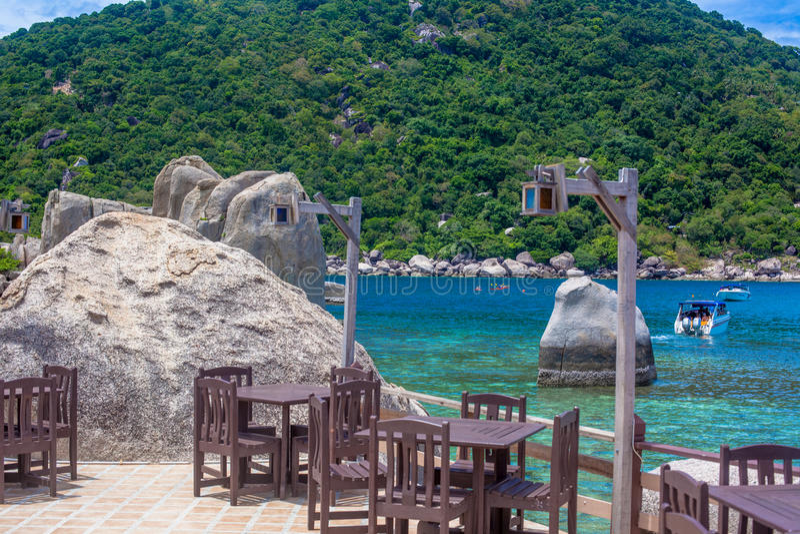 Ilha tropical do paraíso bonito, Koh Tao imagem de stock royalty free