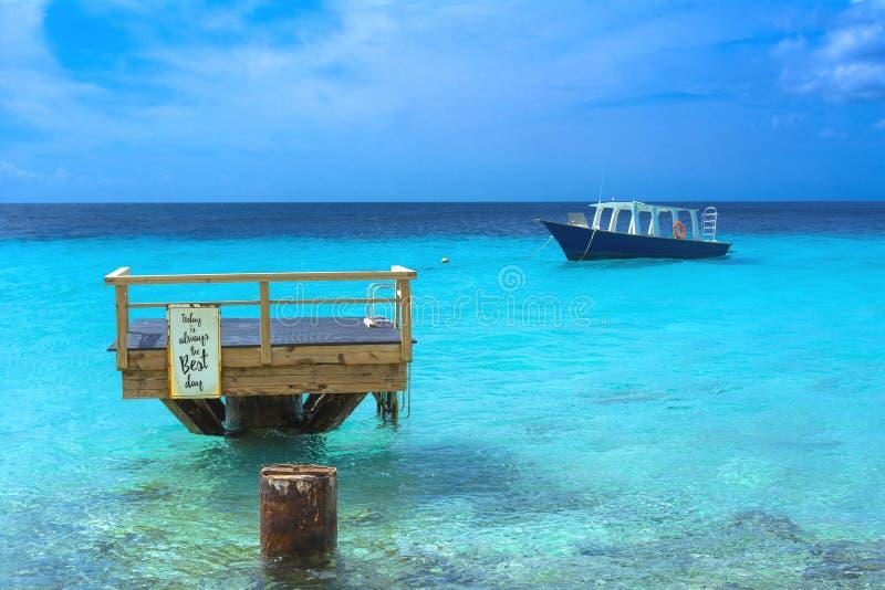 Ilha tropical, mar das caraíbas imagens de stock royalty free
