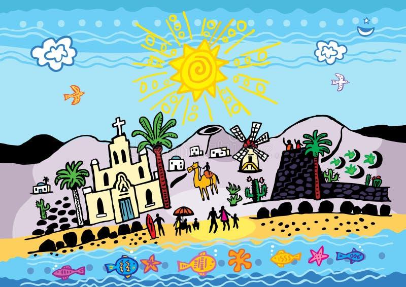 Ilhas Canárias ilustração do vetor