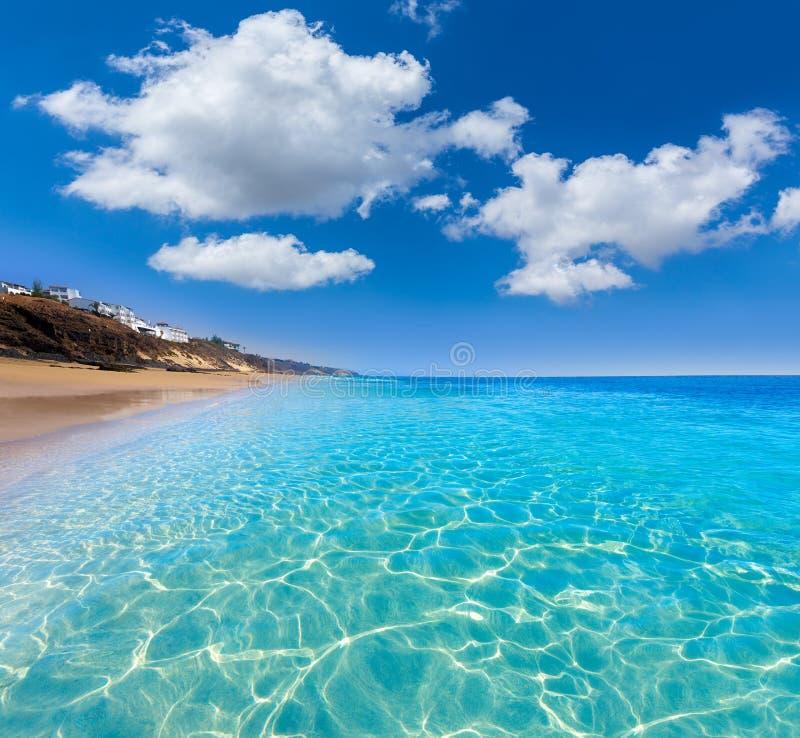 Ilhas Canárias de Fuerteventura da praia de Morro Jable foto de stock