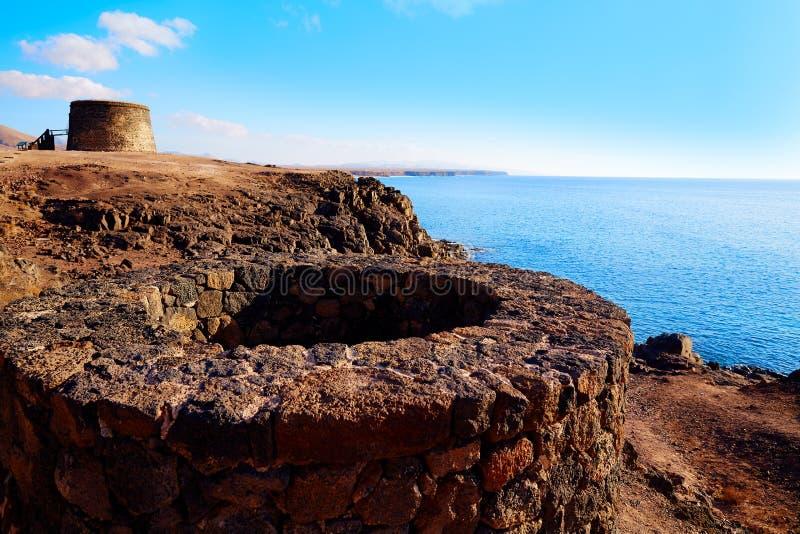 Ilhas Canárias de fuerteventura da torre do EL Cotillo Toston fotos de stock royalty free