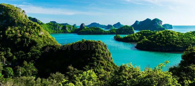 Ilhas de Ang Thong National Marine Park em Tailândia fotos de stock
