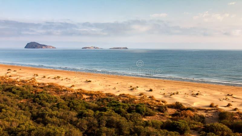 Ilhas de Chafarinas, situadas ao longo da costa do norte de Marrocos imagens de stock royalty free