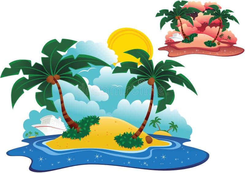 Ilhas de deserto ilustração stock