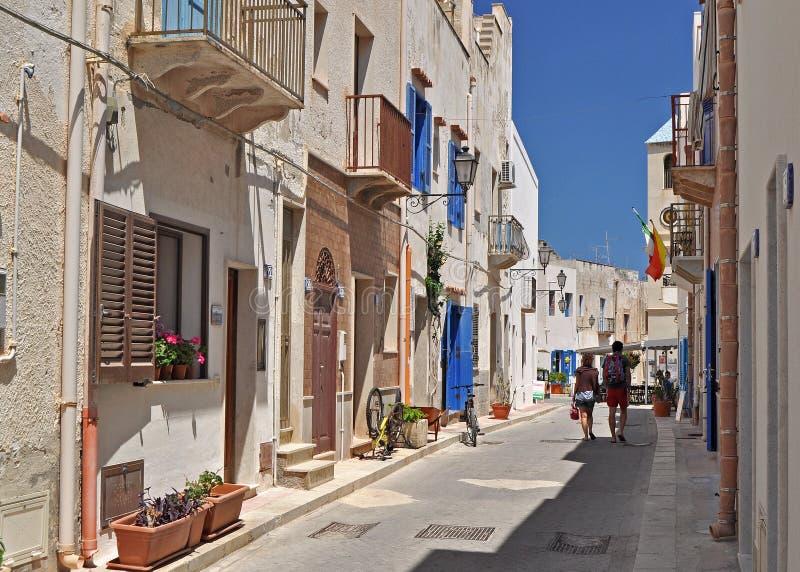 Ilhas de Marettimo Egadi fora da costa de Sicília fotografia de stock royalty free