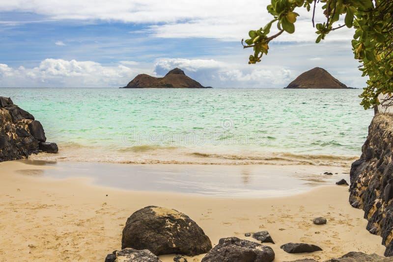 Ilhas de Mokulua fotografia de stock