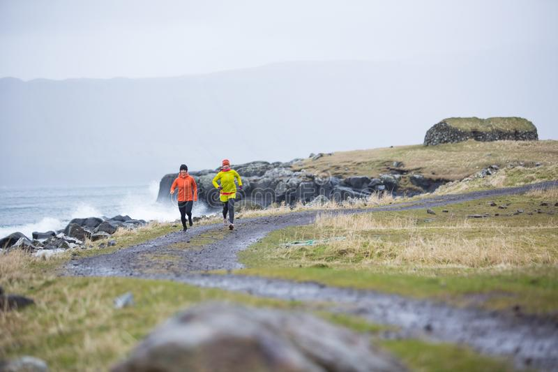 Ilhas Faroé de corrida imagens de stock royalty free