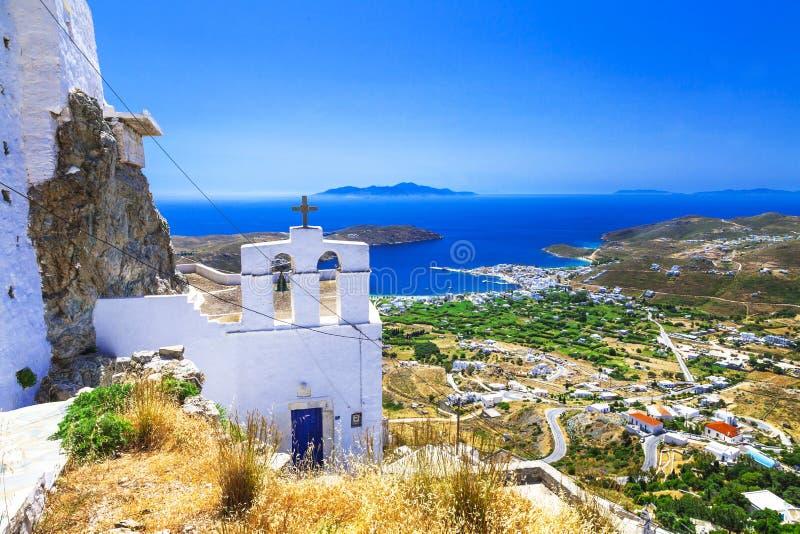 Ilhas gregas bonitas - Serifos cyclades imagem de stock royalty free