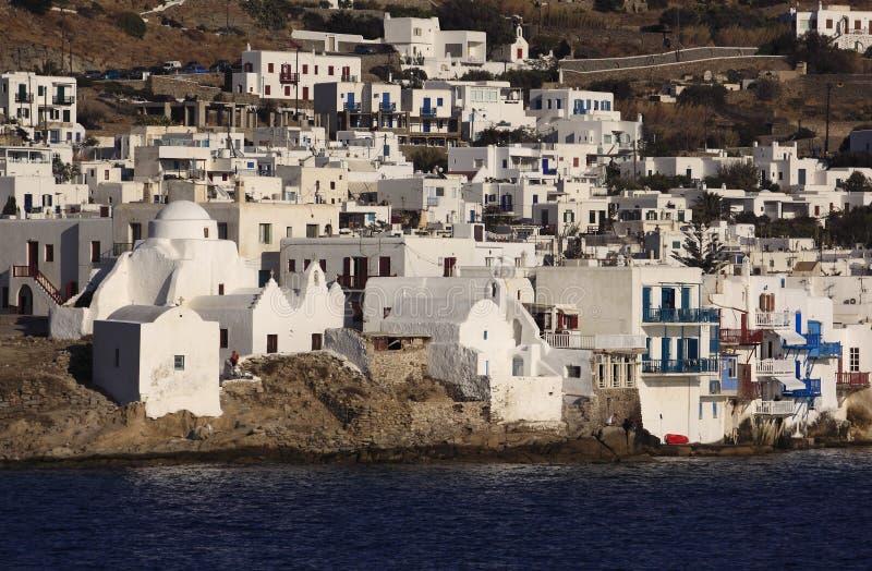 Ilhas gregas Mikonos de Greece fotografia de stock royalty free