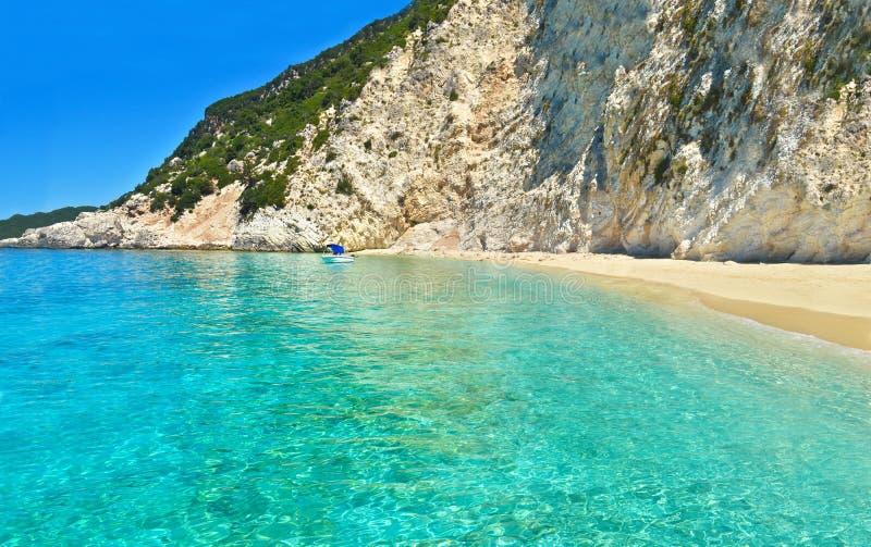 Ilhas Ionian Grécia da praia de Ithaca foto de stock royalty free