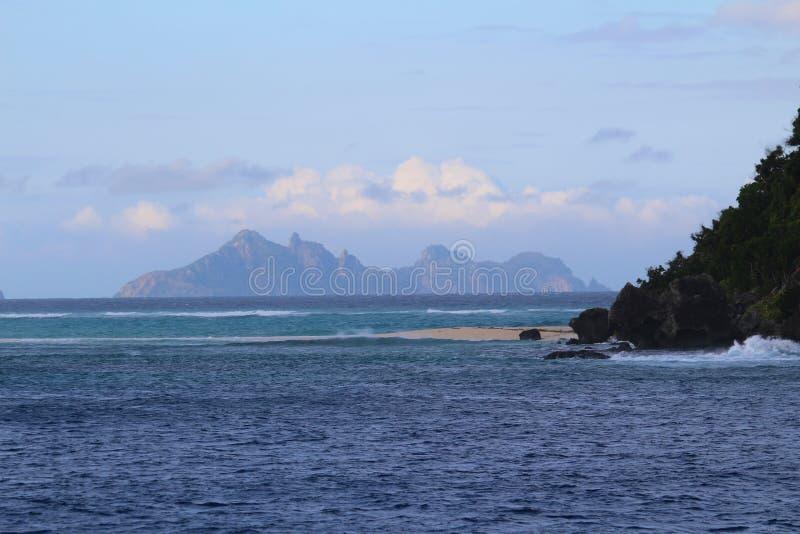 Ilhas sagrados, ilhas de Mamanuca, Fiji fotografia de stock