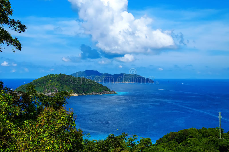 Ilhas Similans de Tailândia fotografia de stock