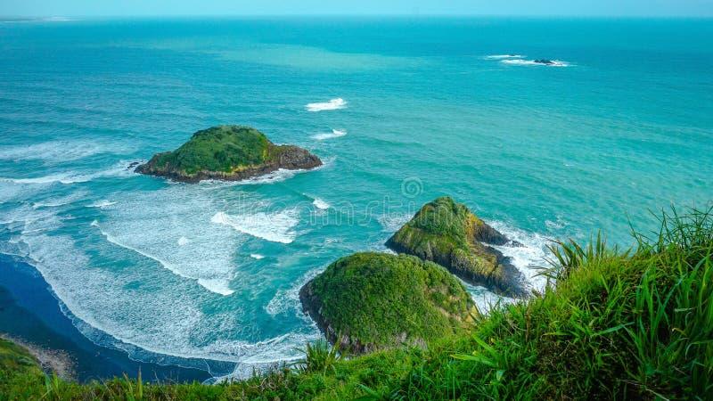 Ilhas vistas da terra fotografia de stock