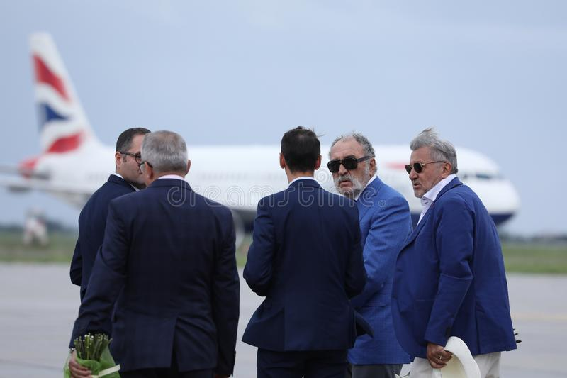 Ilie Nastase Tiriac czeka Simona Halep i jon obrazy royalty free