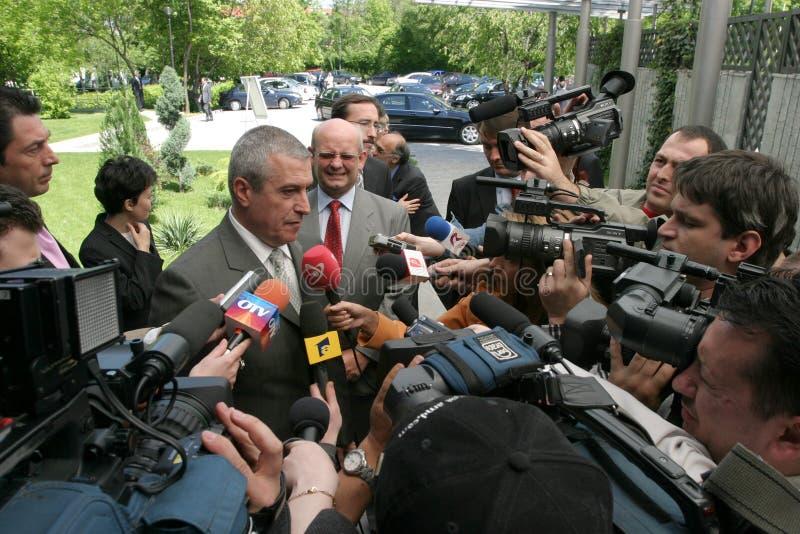 Ilie Serbanescu med press royaltyfria foton