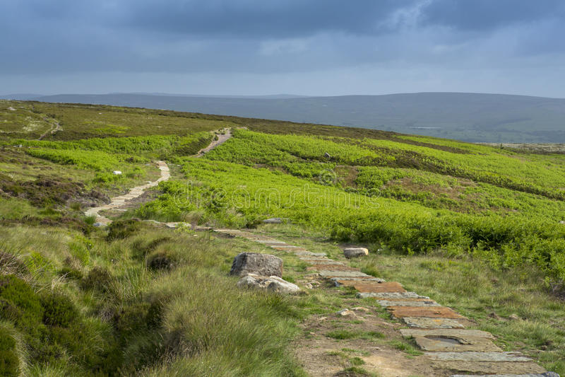 Ilkley amarrent Yorkshire photo stock