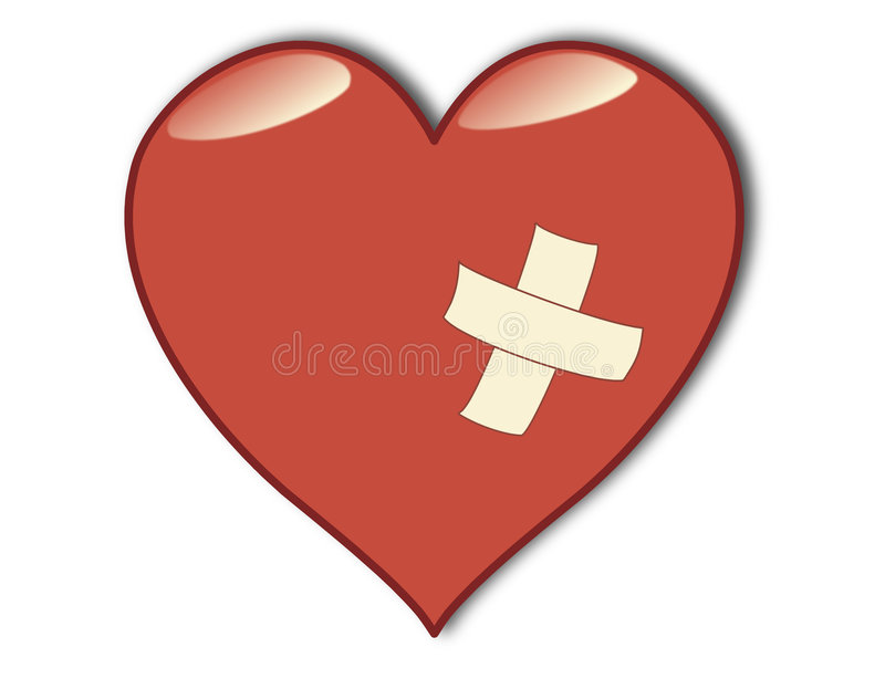 Ill heart. Concept isolated on white background stock illustration