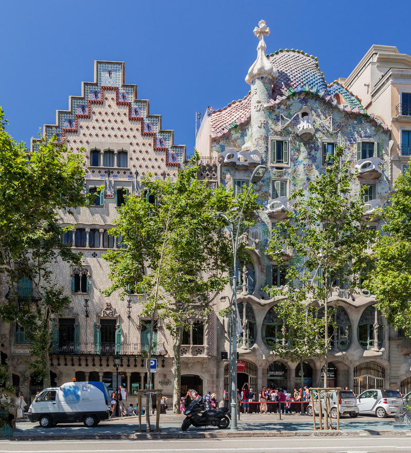 Illa de la Discordia Barcelona Spain royaltyfria bilder