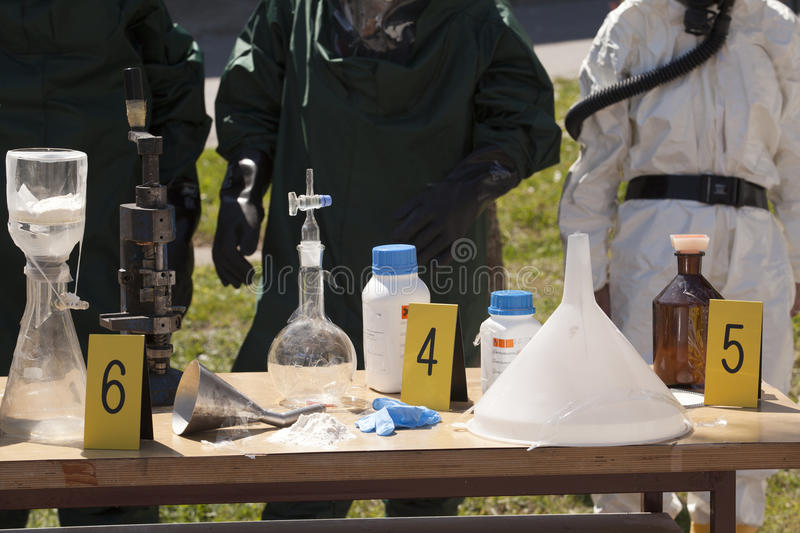 Illegal drug lab royalty free stock photo