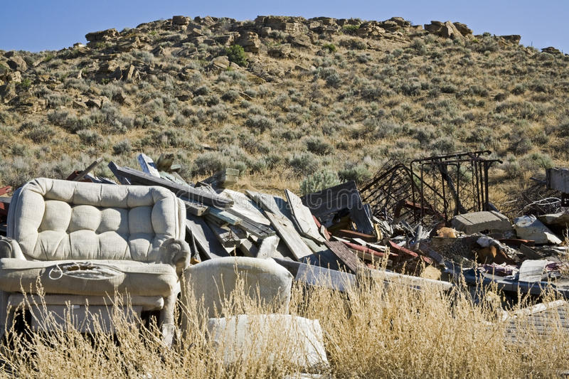 Illegal dumping ground royalty free stock photos