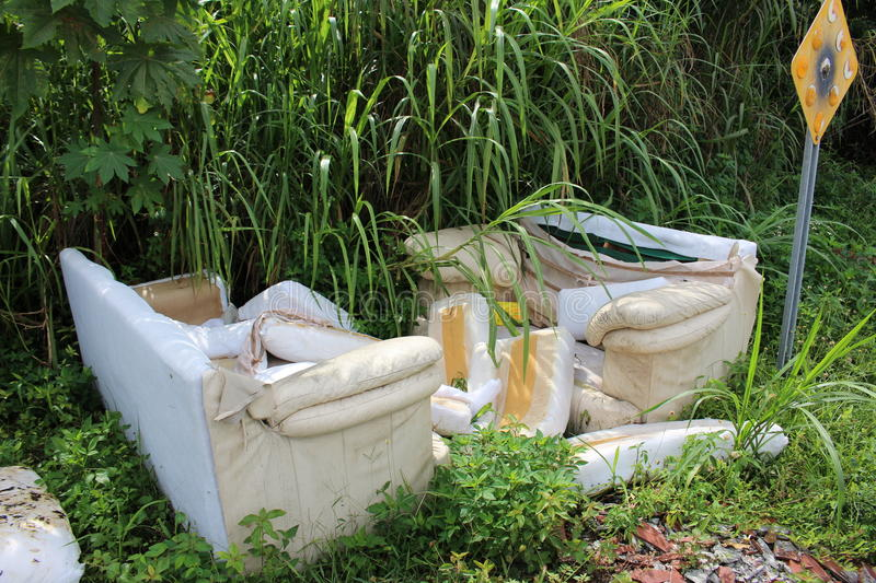 Illegal dumping. A picture of illegal dumping stock photo
