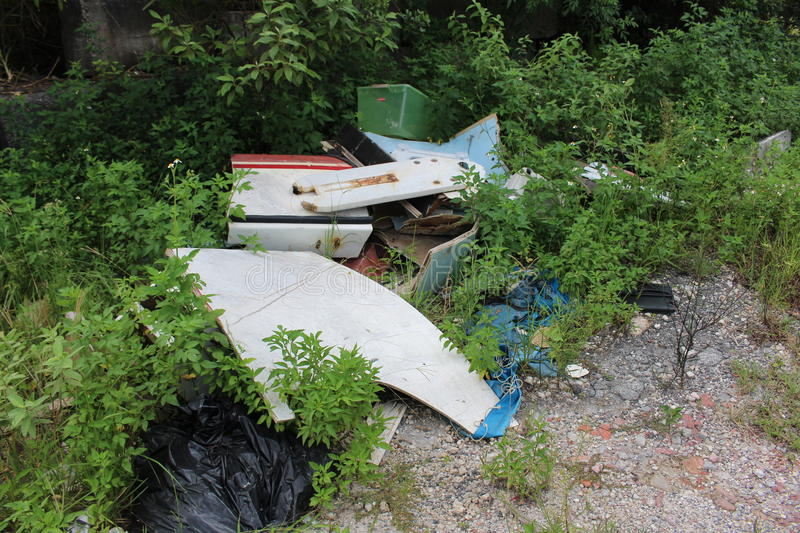 Illegal dumping. A picture of illegal dumping stock photos