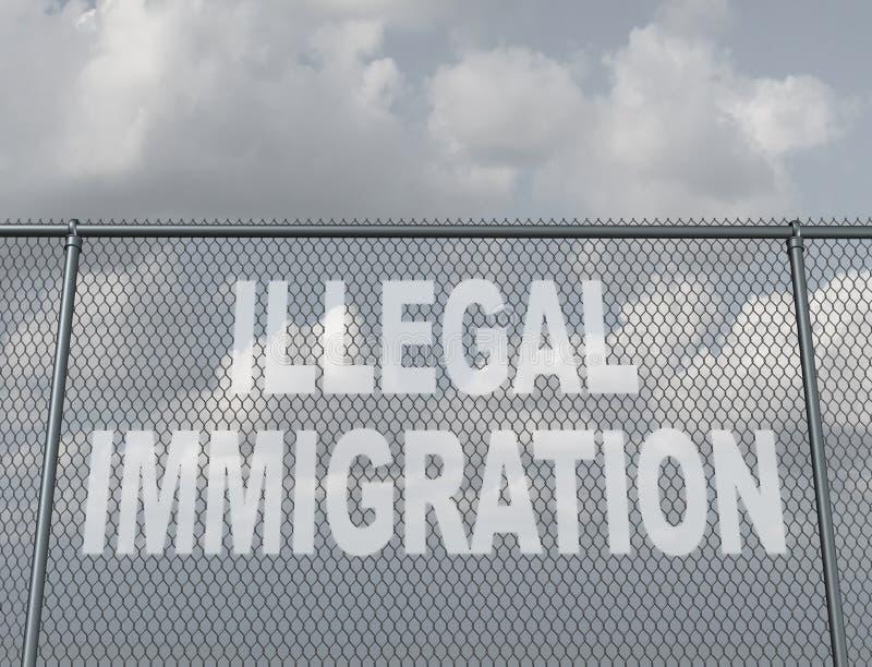 illegal invandring vektor illustrationer