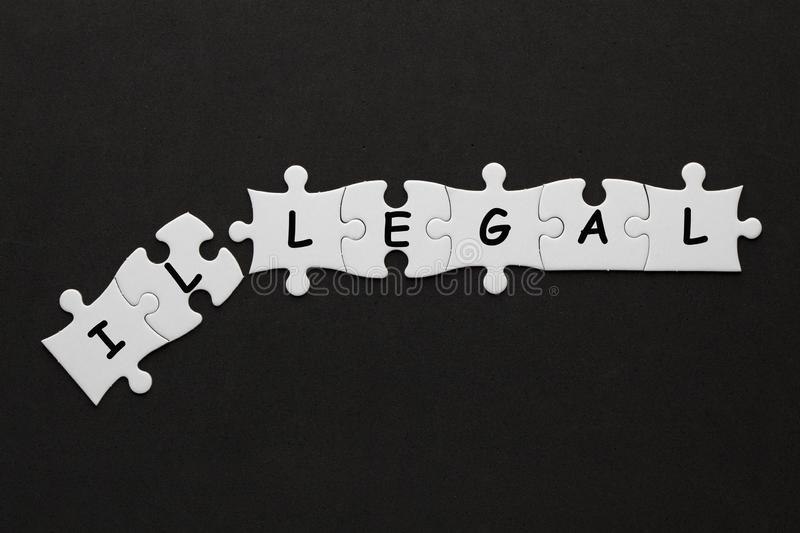 Illegal is legal concept royalty free stock photo