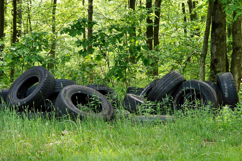 Download Illegally Dumped Car Tires Editorial Image - Image: 83710565