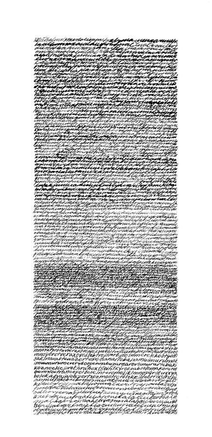Illegible Script Texture Stock Photo