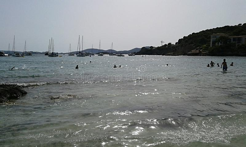 Illetas海滩 免版税库存照片