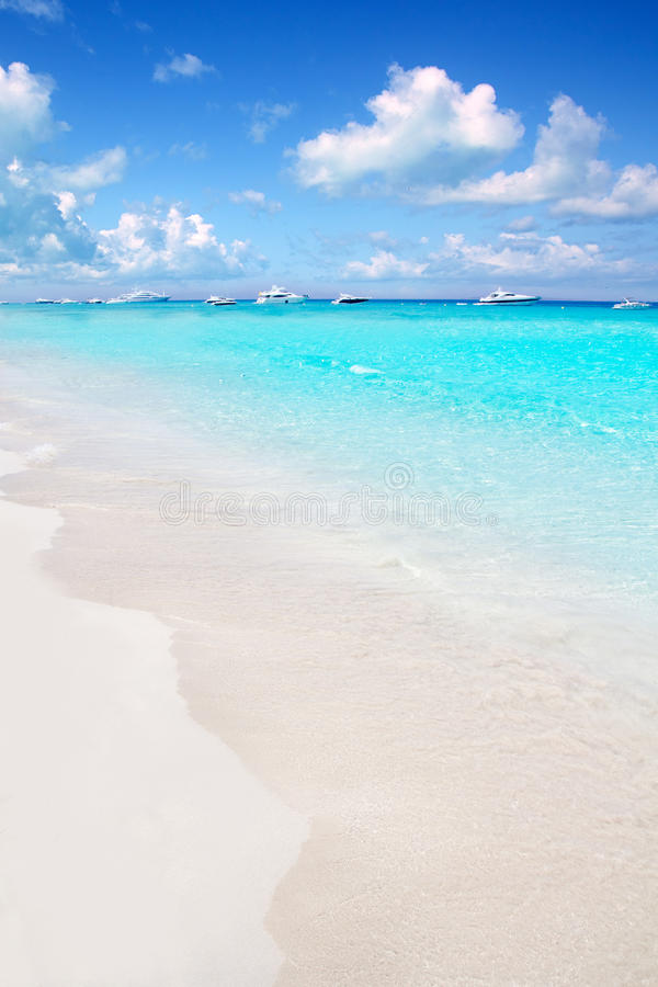 Download Illetes Formentera East Beach Tropical Turquoise Royalty Free Stock Photos - Image: 21748488